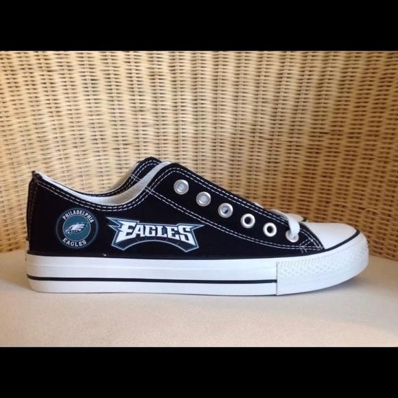 844e059c436a New Philadelphia Eagles Black Canvas Sneakers